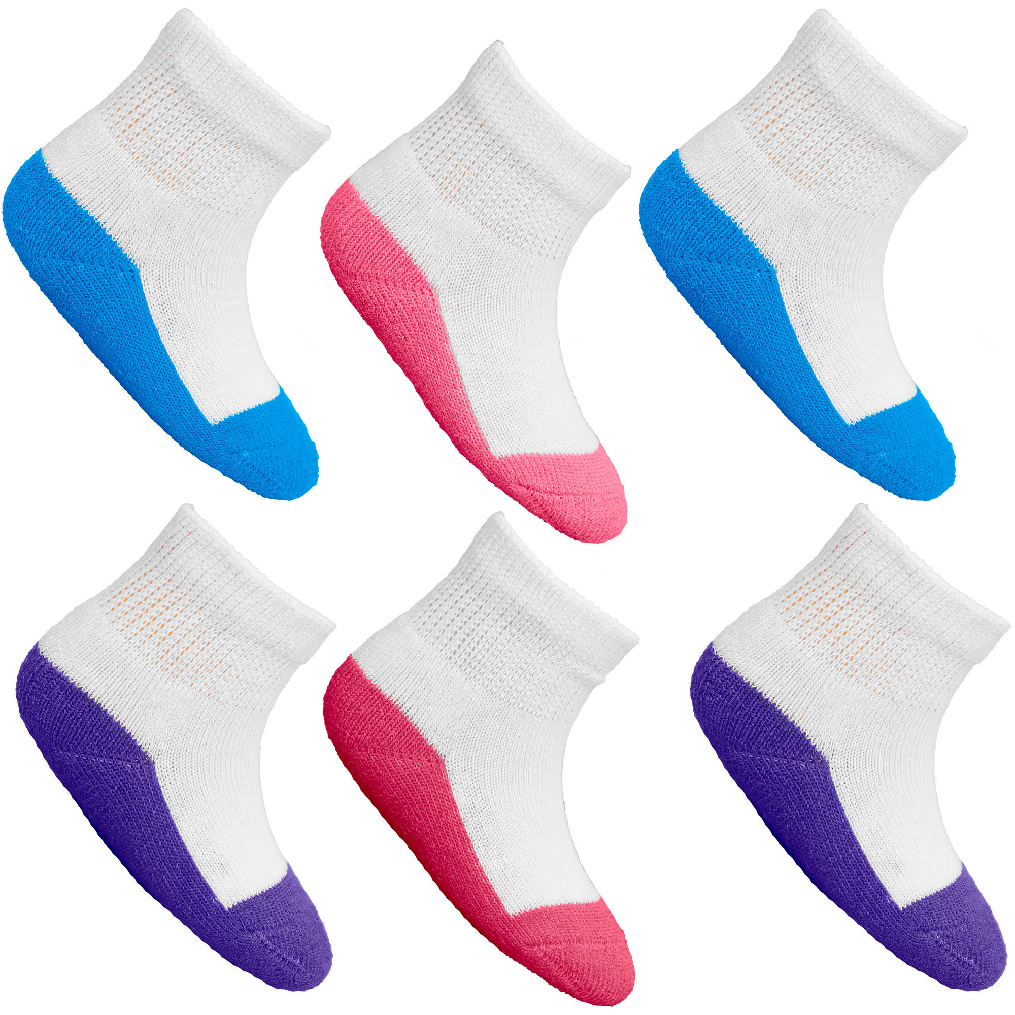 Fruit of the Loom Baby Boys Assorted Ankle Socks - 6 Pairs