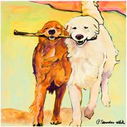 "Trademark Art ""Stick With Me"" Canvas Art by Pat Saunders-White"