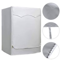 """Washer/Dryer Cover for Front-loading Machine - Waterproof, Dustproof, Sun-Proof Washing Machine Cover, W27""""D33""""H39""""/W29""""D28""""H43 Suitable for most Washers/Dryers on US and Canadian market - Silver"""