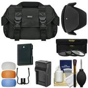Essentials Bundle for Nikon D3200 D3200, D3300, D5200, D5300, D5500 Camera + 18-55mm VR Lens with Case + Battery + Charger + 3 (UV/CPL/ND8) Filters + Hood + Kit