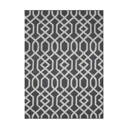DecorShore Aroa Wave Hand-Tufted Gray Area Rug