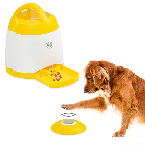 Arf Pets Dog Treat Dispenser – Dog Puzzle Memory Training Activity Toy – Treat While Train, Promotes Exercise by Rewarding Your Pet, Cat, Improves Memory & Positive Training for A - Pet Squeak Arf Frame