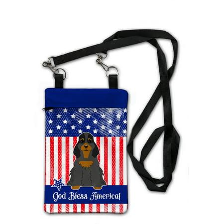 Patriotic USA Cocker Spaniel Black Tan Crossbody Bag Purse BB3088OBDY