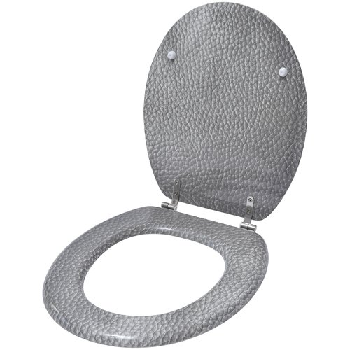 Evideco Leather Effect Elongated Toilet Seat