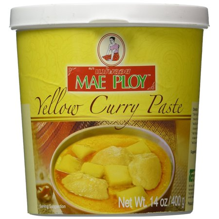 Thai Yellow Curry Paste - 14 oz jar By Mae Ploy From