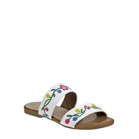 NANETTE Nanette Lepore Flora Two-Strap Slide Sandals (Little Girls & Big Girls)