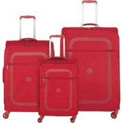 Delsey Dauphine Plus Carry-on - Red 3 Piece Set Spinner