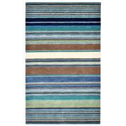 Liora Manne Inca Stripes Indoor Rug Blue 5'X8'