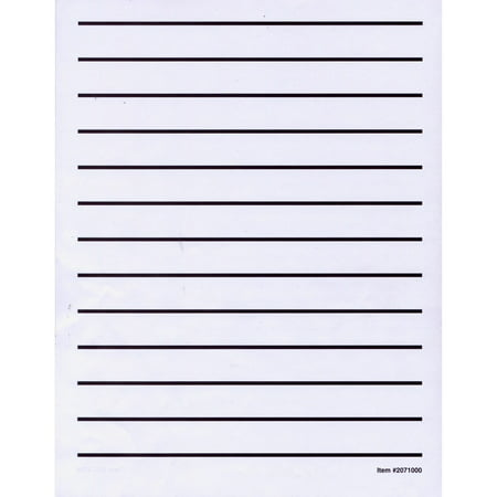 Low Vision Writing Paper - Bold Line -1 pad - Halloween Ghost Writing Paper
