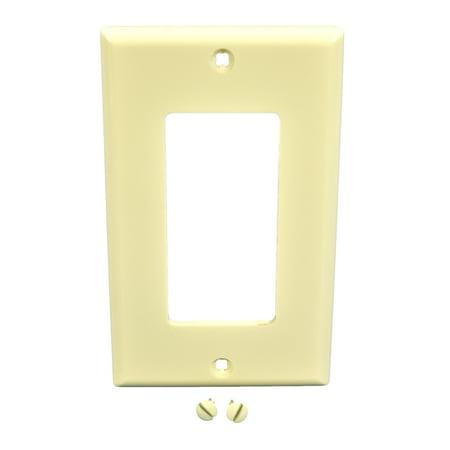Leviton Almond Unbreakable Decora Wallplate GFCI GFI Nylon Cover 80401-NA Almond Decora Wall Plate