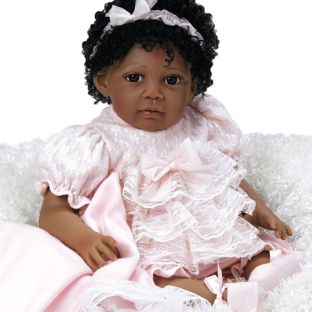 "Paradise Galleries Lifelike Realistic Soft Vinyl Weighted 20 inch Toddler Girl  Doll Gift ""Chantilly"" Great to Reborn"