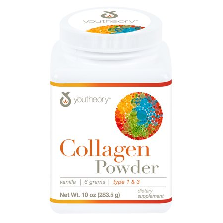 Youtheory Collagen Powder with Biotin and Vitamin C, 10 oz (Isotonic Powder)
