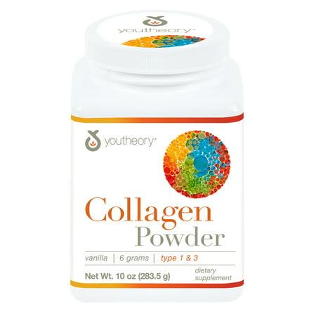 Biotin Powder - Youtheory Collagen Powder with Biotin and Vitamin C, 10 oz
