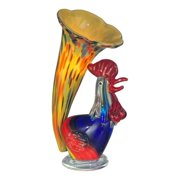 Dale Tiffany Rooster Lily Favrile Accent Lamp