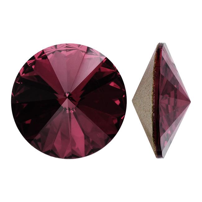 Swarovski Crystal, #1122 Rivoli Fancy Stones 14mm, 2 Pieces, Amethyst F
