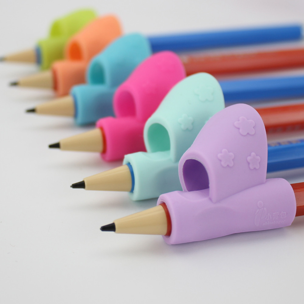 Outtop 3PCS/Set Children Pencil Holder Pen Writing Aid Grip Posture Correction Tool New