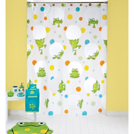 Frog curtains curtain menzilperde net for Frog bathroom ideas