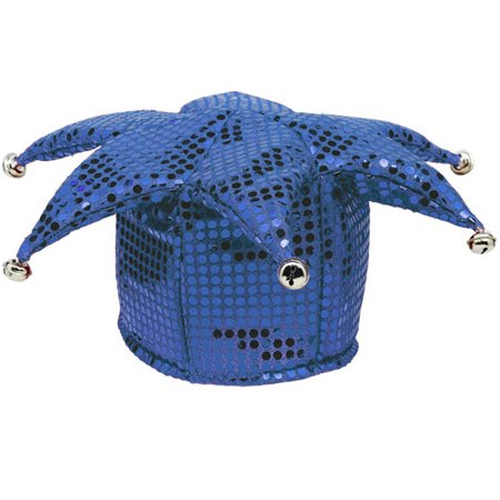 Blue Sequin Jester Costume Hat (1ct)](Jester Hats Wholesale)