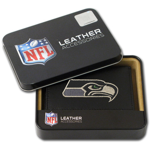NFL - Men's Seattle Seahawks Embroidered Trifold Wallet