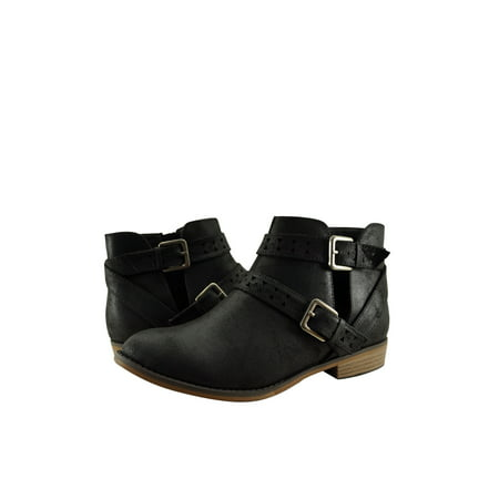 City Classified Bay Women's Cut Out Ankle Buckled Booties](Booties Cut Out)