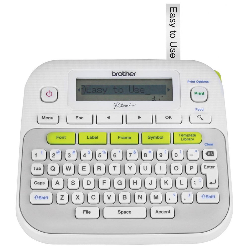Brother P-Touch PT-D210 Label Maker Labeler LCD Display and QWERTY Easy-to-Use by Brother