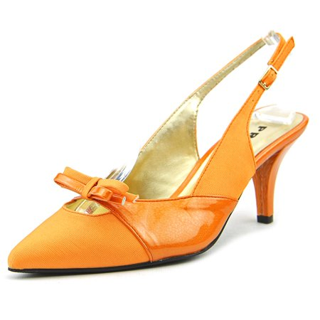 Proxy W Carey Damens W Proxy Pointed Toe Synthetic Orange Slingback Heel ... 545c4d
