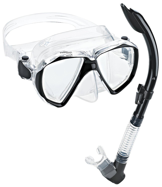Phantom Aquatics Velocity Scuba Snorkeling Mask Snorkel Set, Red by