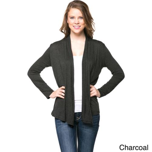 Women's Classic Open Cardigan Whte Medium