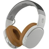 Skullcandy Crusher Wireless BT Over-Ear Headphone with Mic in Gray & Tan