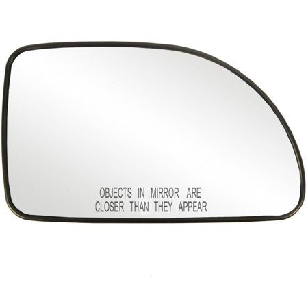 80234 - Fit System Passenger Side Non-heated Mirror Glass w/ backing plate, Nissan Sentra 07-12, 4 3/ 4