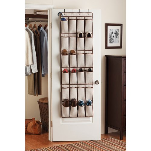 Canopy 24 Pocket Over The Door Organizer Fresh Ivory Chocolate Chip