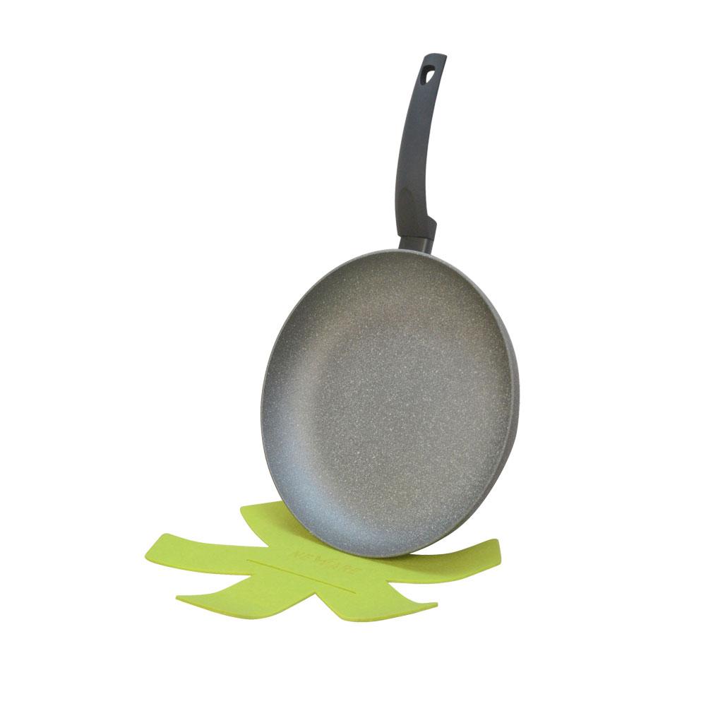 12'' Lava Stone Fry Frying Pan w/ Felt Pad Non Stick Scratch Resistant Skillet Eco Friendly