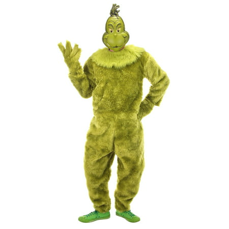 The Grinch Deluxe Adult Jumpsuit Halloween Costume (Party City Halloween Costumes For Womens)