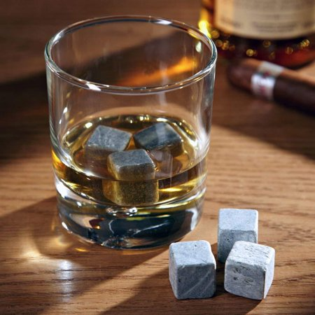 6pc Whiskey Stones, Cools drinks without diluting the flavor. By Glacier