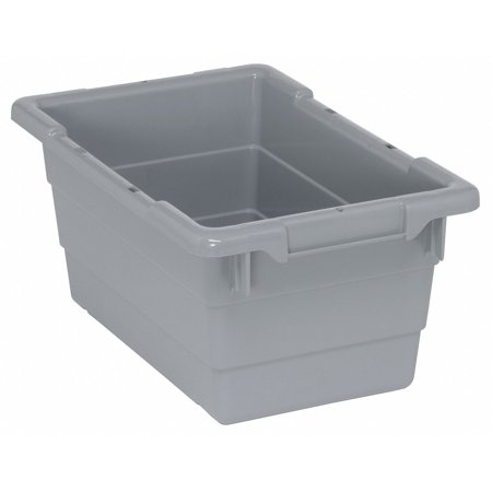 - Cross Stacking Container, Gray, 8