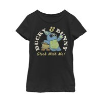 Toy Story Girls' 4 Ducky & Bunny With It Motto T-Shirt