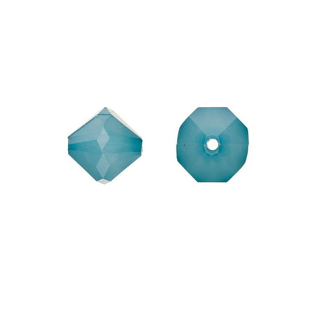 Acrylic Beads, Faceted, Semi-Transparent Blue, 13mm pack of 126 (2-pack Value Bundle), SAVE (126 Beading)