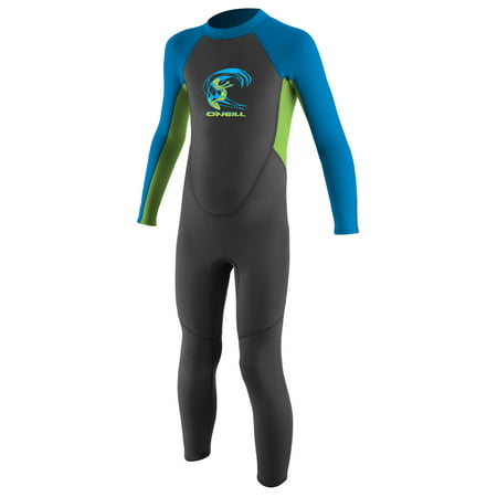O'NEILL REACTOR TODDLER FULL WETSUIT GRAPH/DAYGLOW/BRIGHT BLUE , Size 1