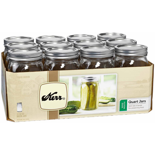 Hearthmark 1 qt Wide Mouth Canning Jars