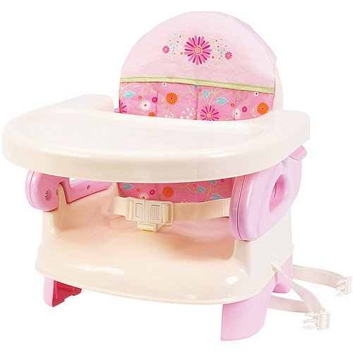 - Deluxe Folding Booster Seat, Pink, Tan Seat Go Summer A...