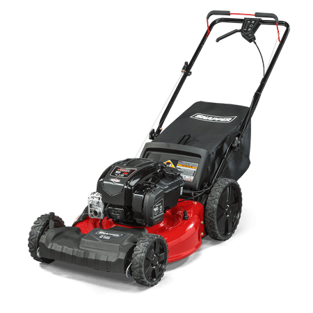 "Snapper 21"" Gas Front Wheel Drive Variable Speed Self Propelled Lawn Mower with Briggs and Stratton Engine, Side Discharge, Mulching, Rear Bag, Rear High Wheels"