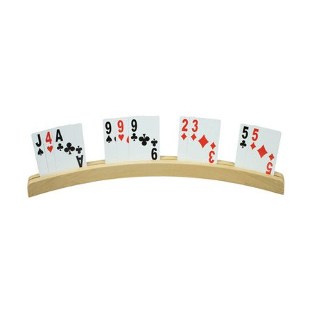 Healthsmart Wood Table Playing Card Hold