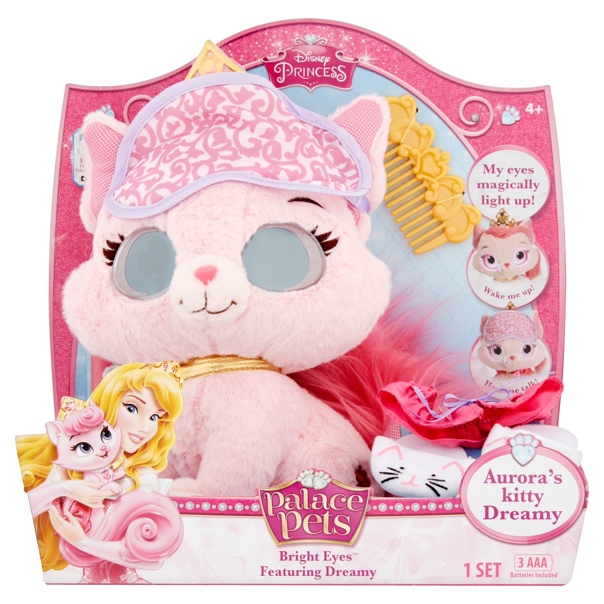 Disney Princess Palace Pets Bright Eyes Aurora's Kitty Dreamy Toy Set 4+