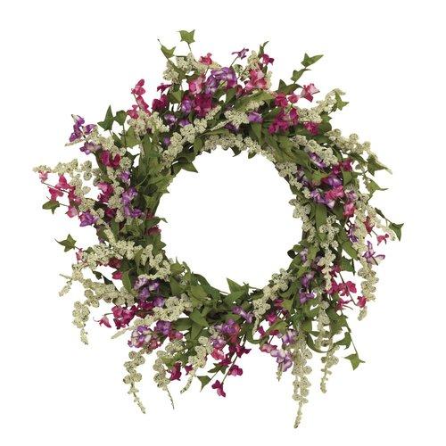 August Grove 24'' Spring Dusty Miller Wreath