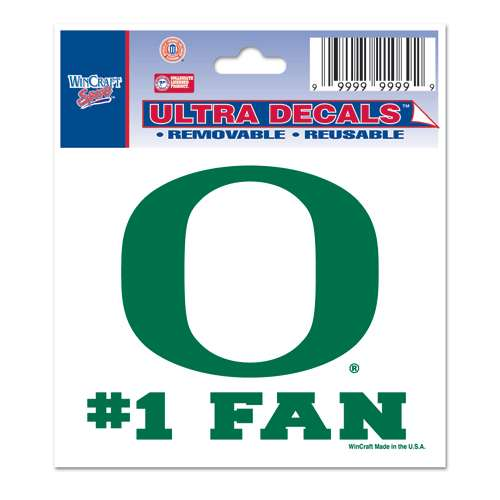"Oregon Ducks Decal 3"" X 4"" - #1 Fan"