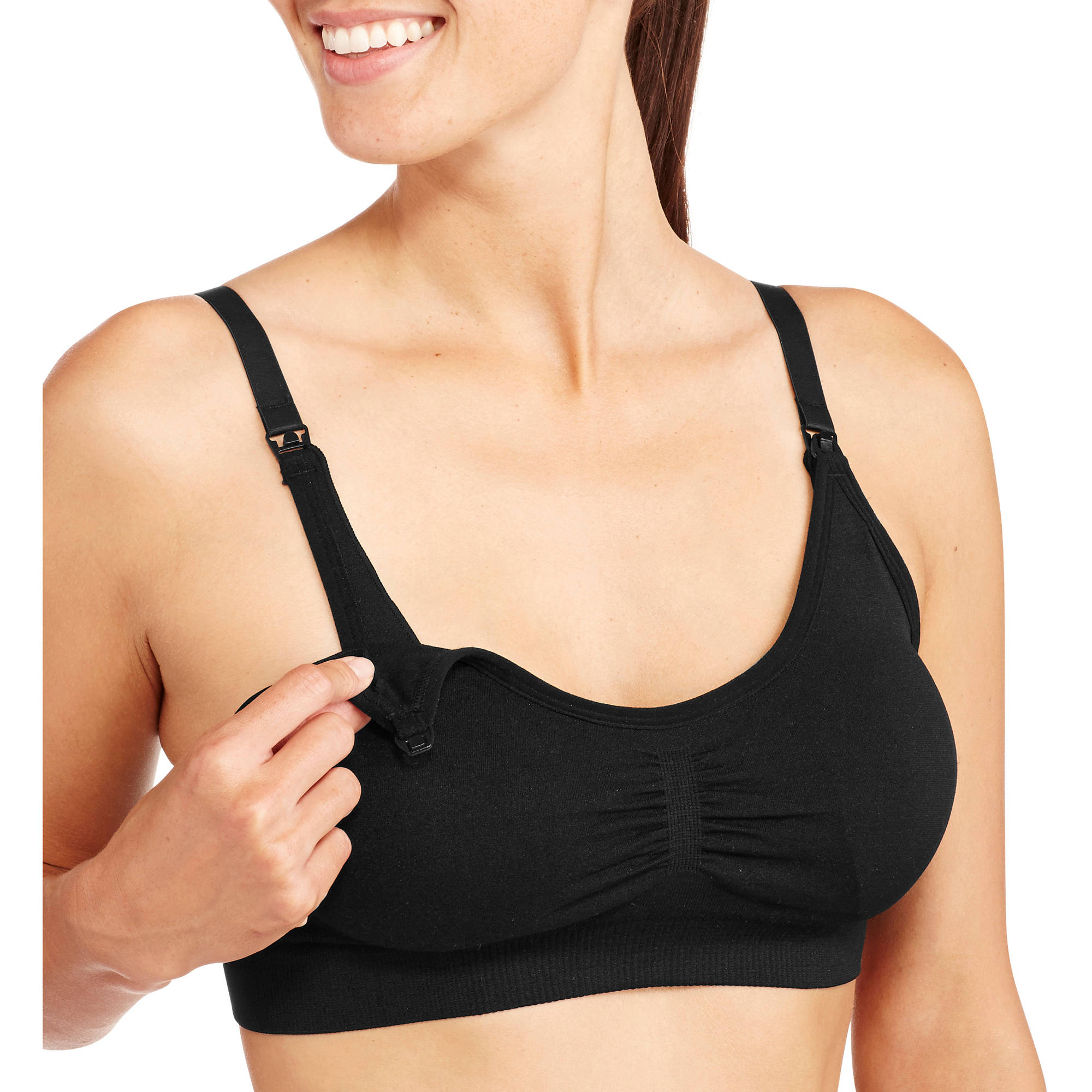Nurture by Lamaze Maternity Seamless Nursing Bra with Removable Pads