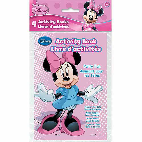 Minnie Mouse Activity Books, 4ct