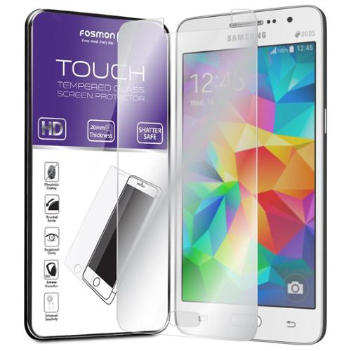 Fosmon Samsung Galaxy Grand Prime Tempered Glass [Shatter Proof | Oleophobic Coating] HD Clear Screen Protector 1 Pack
