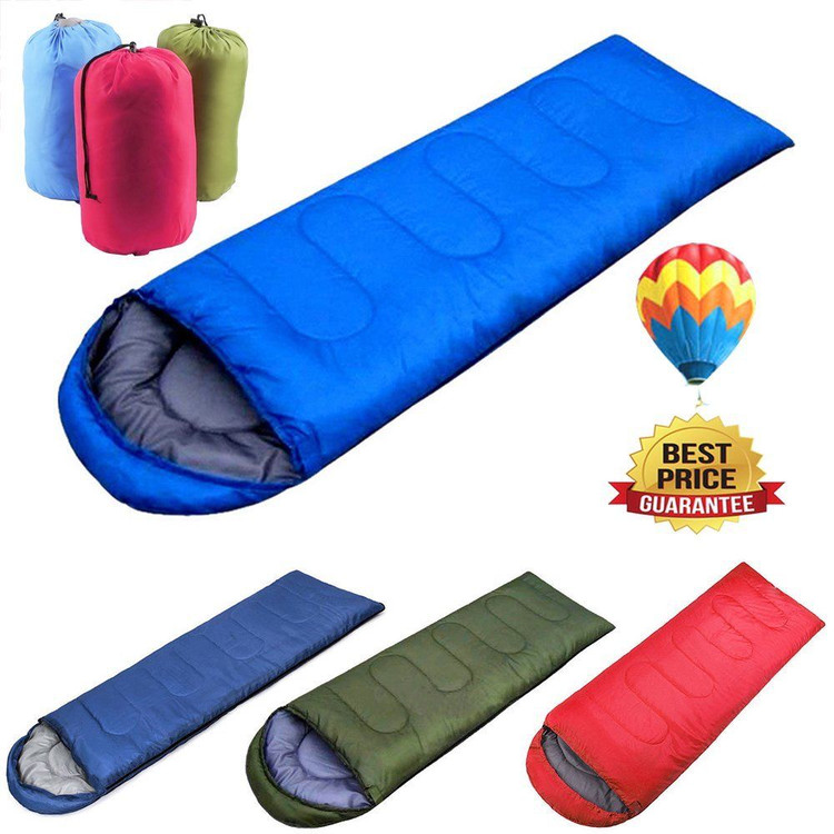 New 1pcs Portable Large Single Sleeping Bag for Adults Warm Soft Adult Waterproof Camping Hiking Blue