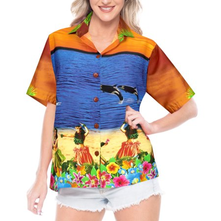 Hawaiian Shirt Ladies Beach Top Blouses Tank Casual Aloha Holiday Daily wear